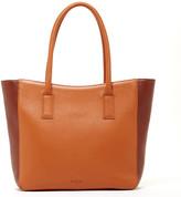 Susu Handbags - Warren - Classic Tote Brown And Cognac Color-Block