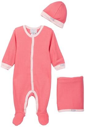 Coccoli Puffin Island Footie Bodysuit, Cap & Blanket Set