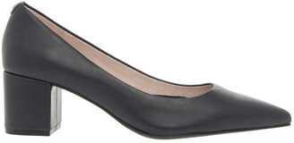 Basque Charlene Navy Leather Heel