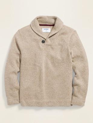 Old Navy Fleece-Knit Shawl-Collar Pullover for Boys