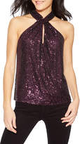 Parker Dallas Sequined Halter Top