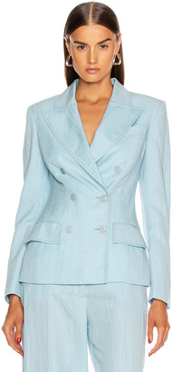 Alberta Ferretti Tailored Jacket in Light Blue | FWRD