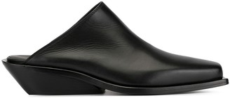 Ann Demeulemeester Square Toe Slippers