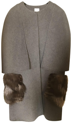 Silvian Heach Grey Wool Coats