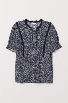 H&M Blouse with Fringe - Blue