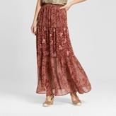 Knox Rose Women's Printed Tier Maxi Skirt