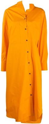 Enfold Asymmetric Midi Shirt Dress