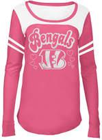 5th & Ocean Cincinnati Bengals Pink Slub Long Sleeve T-Shirt, Girls (4-16)