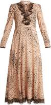 RED Valentino Star-print silk-blend chiffon dress