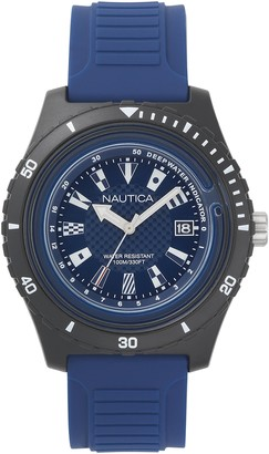 Nautica Men's Ibiza Stainless Steel Quartz Sport Watch with Silicone Strap