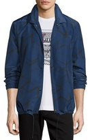 Robert Graham Soren Printed Shirt Jacket, Navy
