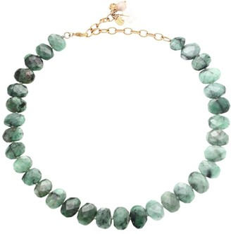 Chan Luu Emerald Beaded Collar Necklace
