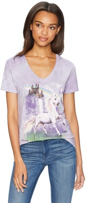 The Mountain Women's Tri-Blend V-Neck Unicorn Castle T-Shirt