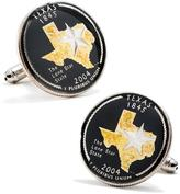 Penny Black 40 Hand Painted Texas State Quarter Cufflinks