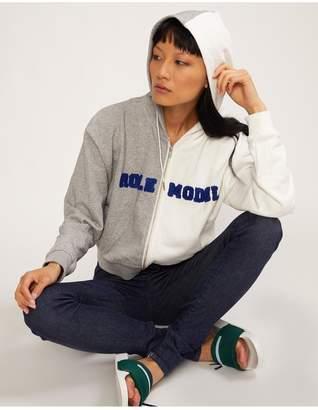 Cynthia Rowley Embroidered Role Model Hoodie Sweatshirt