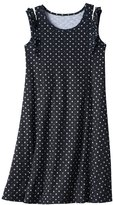 SO Girls 7-16 & Plus Size SO® Patterned Ruffle Shoulder Knit Dress