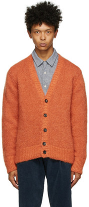 DOPPIAA Orange Mohair Aliano Cardigan