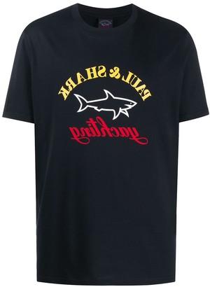 Paul & Shark crew neck printed logo T-shirt