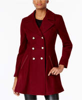 Laundry by Shelli Segal Petite Skirted Wool-Blend Peacoat,