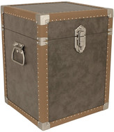 Trunks Seward Trunk Houston Collection Trunk Cube End Table, Grey