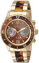 Invicta Women's 'Angel' Quartz Stainless Steel Casual Watch, Color:Two Tone (Model: 24706)