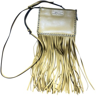 Miu Miu Bow bag Yellow Leather Handbags