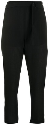 Ann Demeulemeester Elasticated Waistband Cropped Trousers