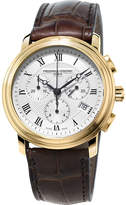 Frederique Constant Fc-292mc4p5 Classic Gold-plated Stainless Steel And Leather Watch