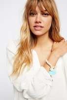 Tasseled Wooden Shell Bracelet by Lead at Free People