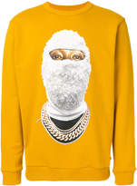 Ih Nom Uh Nit beaded balaclava print sweatshirt