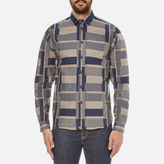 Folk Men's Patterned Long Sleeve Shirt Navy Stone