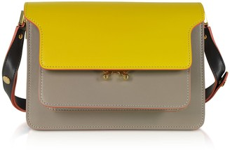 Marni Color-block Smooth Calf Leather Trunk Bag