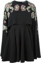 Alexander McQueen floral embellished cape dress