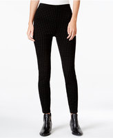 Maison Jules Flocked Houndstooth Pull-On Pants, Only at Macy's