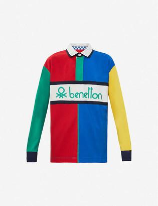 Benetton Colour-block cotton polo shirt