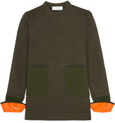Toga Wool-blend Jersey Sweater - Army green