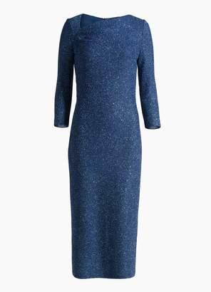 St. John Asymmetrical Sequin Knit Dress