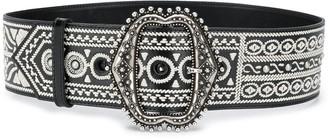 Etro Embroidered Buckle Belt