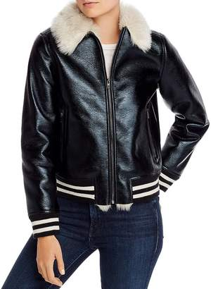Mother The Faux Fur-Lined Bomber Jacket