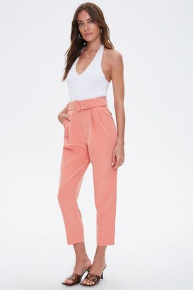 Forever 21 Belted Ankle Pants