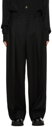 Wooyoungmi Black Wool Loose Trousers