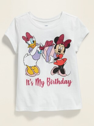 """Old Navy Disney Minnie Mouse & Daisy Duck """"It's My Birthday"""" Tee for Toddler Girls"""