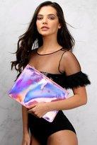 Rare Pink Metallic Clutch Bag