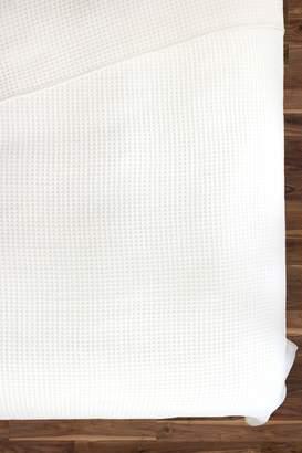 Melange Home Oversized Wool Waffle Weave Throw - Ivory