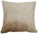 Saddlemans Full-Panel Hide Pillow, Gray Tan
