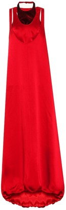 Valentino sleeveless satin gown