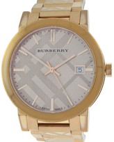 Burberry BU9039 Rose Gold Ion-Plated Steel Date Quartz Womens Watch 38mm