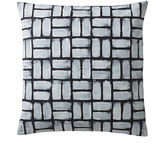 Serena & Lily Painted Basketweave Pillow Covers - Inkwell