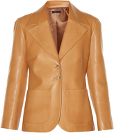 The Row Calixco notch-lapel leather jacket