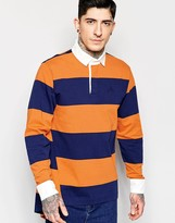 Vivienne Westwood Anglomania Polo Shirt In Stripe With Stepped Hem